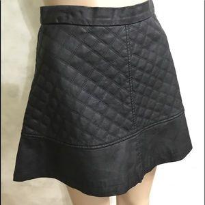 NWOT TCEC Faux Leather Flip Skirt